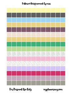 """Free Printable Patterned 1/2"""" Reinforcement Squares for your ring bound planners."""