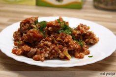 Zdjęcie: Kasza gryczana z porem i pieczarkami w sosie  pomidorowym