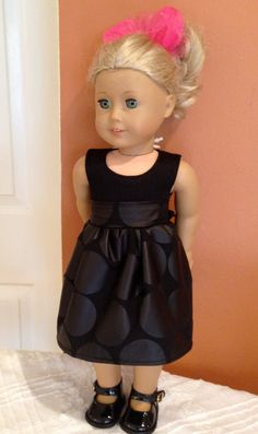Party Dress to fit American Girl Doll by laurelcoe on Etsy