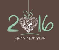 New Year 2016 greeting card