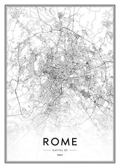 Rome map poster in the group posters & prints / maps & cities at desenio ab Text Poster, Gold Poster, Carte New York, Photo Pop Art, Amsterdam Map, Rome Map, Desenio Posters, London Poster, Scandinavian Design
