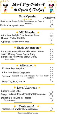 Print this FREE Hollywood Studios Itinerary to help plan your day around the must-do attractions! Disney World Vacation Planning, Disneyland Vacation, Walt Disney World Vacations, Disney Planning, Disney Trips, Disney Travel, Disney Cruise, Vacation Planner, Family Vacations