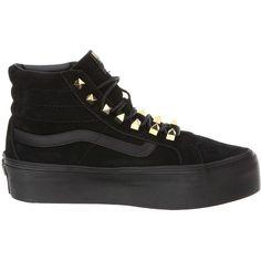 Vans SK8-Hi Platform Black) Skate Shoes ($80) ❤ liked on Polyvore · Black High  TopsShoes ...