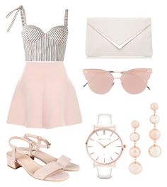 A fashion look from August 2017 featuring white bustier top, lined skirt and adjustable shoes. Browse and shop related looks. Lyon, Rebecca Minkoff, Valentino, Shoe Bag, Polyvore, Red, Stuff To Buy, Shopping, Design