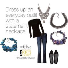 """""""Statement Necklace"""" by parklanejewelry on Polyvore Park Lane Jewelry Featured: Lapis Necklace, Violet Necklace, Intense Necklace, and Bel-Air Necklace."""