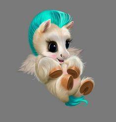 So fucking cute😍 Cute Fantasy Creatures, Cute Creatures, Baby Animals Pictures, Cute Animal Pictures, Cute Animal Drawings, Cute Drawings, Anime Animals, Funny Animals, Cute Little Animals