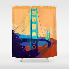 Golden_Gate_Bridge_2015_0418 #Shower_Curtain #JAMFoto #Society6.com