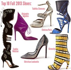 Top Fall 2013 shoes
