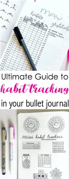 Grab the ultimate guide to habit tracking in your bullet journal (Fitness Planner Ideas) Bullet Journal Tracker, Bullet Journal Hacks, Bullet Journal Spread, Bullet Journal Layout, Bullet Journal Inspiration, Bujo, Bullet Journal Calendrier, My Planner Colibri, To Do Planner