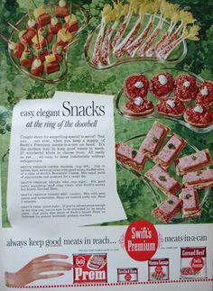 Snacks in 1962.