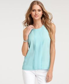 Ann Taylor Pleated Shell $78  in Seaside