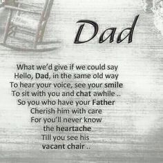 You don't know what you have till you lose it. Don't leave it too long to have a relationship with your dad. X
