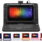 """﹩44.99. iRULU eXpro X3 7"""" Android 6.0 Quad Core 16GB Multi-Color GSM Tablet w/ Keyboard   Type - Tablet, Operating System - Android 6.0.X Marshmallow, Screen Size - 7in., Storage Capacity - 16 GB, Internet Connectivity - Wi-Fi, Carrier - Not Applicable, Hardware Connectivity - Micro USB, Features - Built-In Front Camera, Bundled Items - Keyboard, Case's Material - PU Leather, UPC - 886424108382, Processor Speed - 1.30GHz, Product Line - eXpro, RAM - 1GB, Resolution - 1024 x 600, P"""