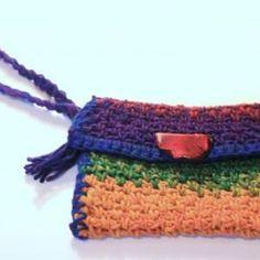 Wristlet, Boho rainbow colo..