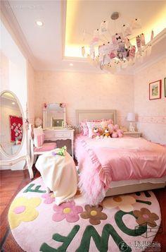 Warm pink kids room decoration 2016