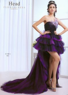Prom Gowns   Prom Dress => High-low Prom Dress =>Cute Inspired Purple Short Dress ...