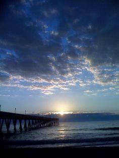 sunrise over Wrightsville Beach, NC