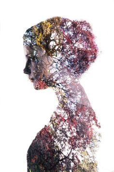 Double exposure portraits: a simple tutorial for making surrealist images. #CreativePhotography #creativeportraitphotography,
