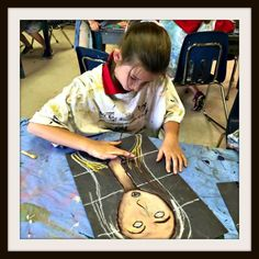 For this self-portrait project, graders learned all about Italian artist Modigliani. I was actually not familiar with this artist until starting my teaching job at EDS and found an old print w… Arte Elemental, 7th Grade Art, Atelier D Art, Ecole Art, School Art Projects, Art Lessons Elementary, Middle School Art, Art Lesson Plans, Art Classroom