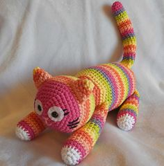 Amigurumi Eloise the Striped Cat pattern by Ida Herter Crochet Cat Toys, Crochet Patterns Amigurumi, Crochet Animals, Crochet Dolls, Crochet Baby, Knit Crochet, Single Crochet Decrease, Cat Pattern, Stuffed Toys Patterns