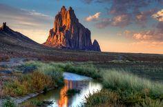 Shiprock, Navajo Nation, San Juan County,  New Mexico   Hallowed ground by Rozanne Hakala, via Flickr