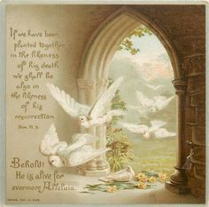 BEHOLD! HE IS ALIVE FOR EVERMORE. ALLELUIA