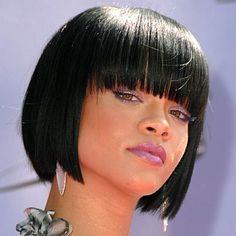 short bob haircut with bangs images   The Rihanna's bangs and bob hairstyles are becoming increasingly ...