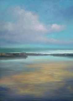 "'Evening Tide Pool, 2' oil on panel "" x 32"" Morgan Ferriter 2017 http://bit.ly/29a6rK7  Creevy, Donegal, Ireland #art #paintings #Donegal #ireland #WildAtlanticWay www.morganferriter.com"