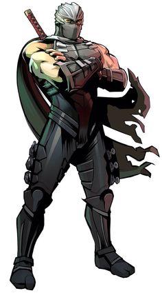 Ryu Hayabusa character concept art from Yaiba: Ninja Gaiden Z Game Character Design, Character Concept, Character Art, Concept Art, Arte Ninja, Ninja Art, Fantasy Characters, Anime Characters, Guerrero Ninja