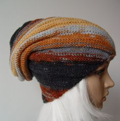 Knitted Snail Hat, Beanie, Slouchy hat