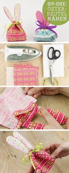 Nähanleitung für einen Hasenbeutel, Ostergeschenke / diy sewing tutorial: bunny bag, easter gifts via DaWanda.com
