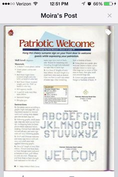 Patriotic Welcome 2/4