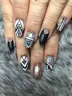 Nail art from the NAILS Magazine Nail Art Gallery, gel, Water Color Nails, Geometric Nail Art, Nail Art Galleries, Nails Magazine, Acrylic Art, Nail Art Designs, Watercolor Art, Nail Polish, Art Gallery