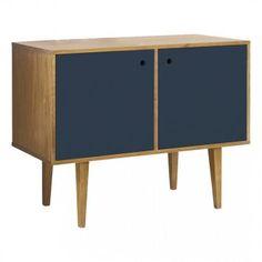 Buffet Vintage 2 Portas - Azul Escuro - 105 x 40 x 80 - MOBLY - R$ 1249,90