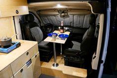 van home layout 332422016248509022 - Glampervan multi-use camper van doubles as a mobile office and observation deck Source by mcmmaza Cool Campers, Campers For Sale, Rv Campers, Luxury Campers, Small Campers, Sprinter Camper, Motorhome, Kombi Trailer, Used Camper Vans