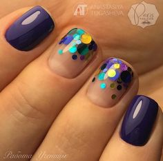 60 Polka Dot Nail Designs for the season that are classic yet chic - Hike n Dip Since Polka dot Pattern are extremely cute & trendy, here are some Polka dot Nail designs for the season. Get the best Polka dot nail art,tips & ideas here. Fancy Nails, Trendy Nails, Cute Nails, Dot Nail Art, Polka Dot Nails, Polka Dots, Hair And Nails, My Nails, Glitter Nails