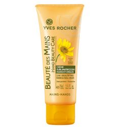 Yves Rocher 2 in 1 Beautifying Hand & Nail Cream - http://47beauty.com/nails/index.php/2017/07/27/yves-rocher-2-in-1-beautifying-hand-nail-cream-3/ Yves Rocher 2 in 1 Beautifying Hand & Nail Cream  Formulated with protective organic Arnica and smoothing Rose extract, this enhancing treatment offers both beauty and protection to your nails and hands, smoothing your skin and boosting its radiance. Directions: Apply daily 2 in 1 Beautifying Hand & Nail Cream. Gentl