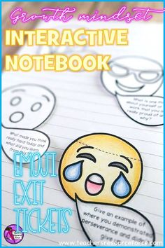 Interactive Notebook Growth Mindset Emoji Exit Tickets /resourceforce/ Growth Mindset Display, Teaching Character, Character Education, Learning Process, Classroom Community, Interactive Notebooks, Counseling Activities, Time Activities, Exit Tickets