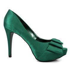 Sapato Peep Toe Noiva Divalesi - 86021-C - Esmeralda Por R$ 179,90  ou 10x Sem juros de R$ 17,99