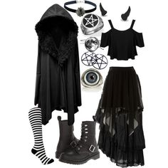 Dark Mori by fantasy-freakshow on Polyvore featuring Mode, Miss Selfridge, Raxevsky, Dr. Martens and Topshop