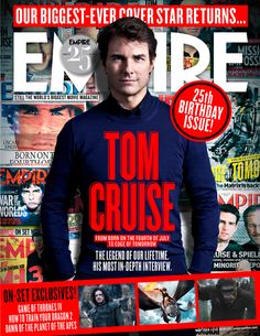 Read 'Empire's New Tom Cruise Cover Is Here' on Empire's movie news. Tom Cruise is a force of nature, an actor who has sustained his career across . Tom Cruise Film, Mission Impossible Series, Empire Movie, Doug Liman, Movie Magazine, Geek Magazine, Edge Of Tomorrow, The Last Samurai, Hollywood Scenes