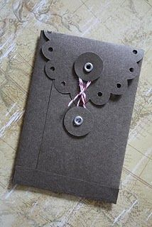 Great embellishment envelope for Art Journals: how to make this envelope