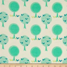 Riley Blake Acorn Valley Flannel Forest Cream from @fabricdotcom  Designed by…