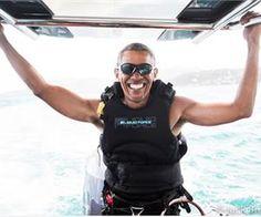 Kitesurfing Barack Obama Looks So Happy Not To Be President Anymore
