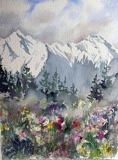 Watercolor / Bergwiese by wystemd, via Flickr