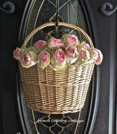Front door dye silk roses