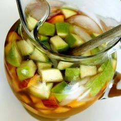 Peach Sangria, I can't wait make this in 4 short months!