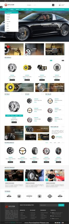 Auto Store is clean and modern design 4in1 responsive #Prestashop theme for #car parts and #auto motive accessories #eCommerce #shop website to live preview & download click on image or Visit