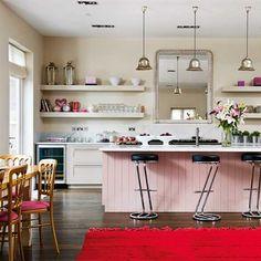 Cozinha fofa: mania cor-de-rosa e decoração vintage /retrô