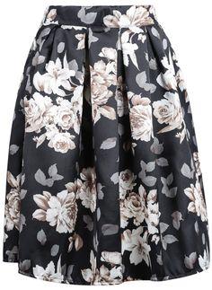 Black+Floral+Midi+Skirt+16.83